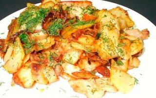 Как приготовить картофель жареный
