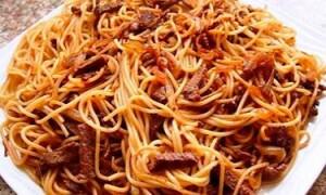 Простой рецепт макарон с мясом