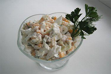 салат с курицей и кукурузой рецепт