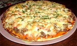 Как приготовить пиццу с мясом