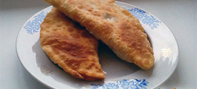 Чебуреки – пошаговый рецепт приготовления на сковороде с фото