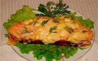 Бутерброды с колбасой, сыром, яйцом и майонезом