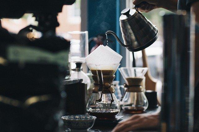 приготовление фильтрованного кофе